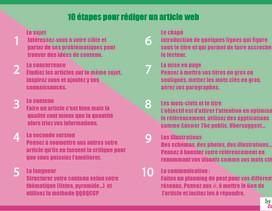10 étapes pour rédiger un article de blog