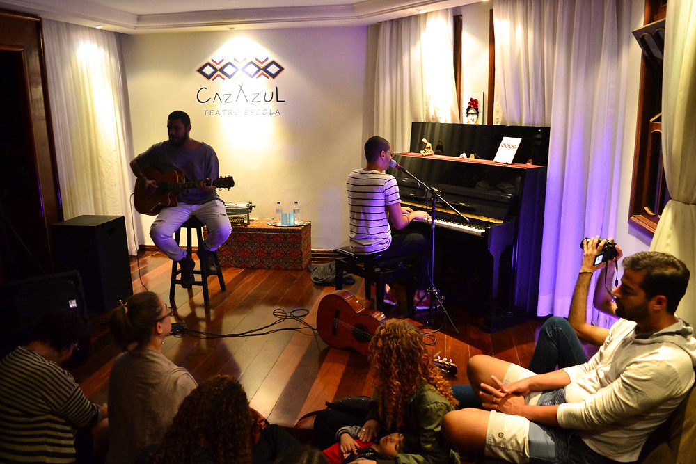 Christian Lopes e Davi Scandurra - pocket-show. Foto: Tamires Pereira