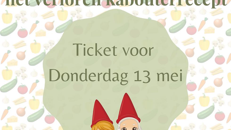 Ticket kabouterwandeling - Do 13 mei 2021