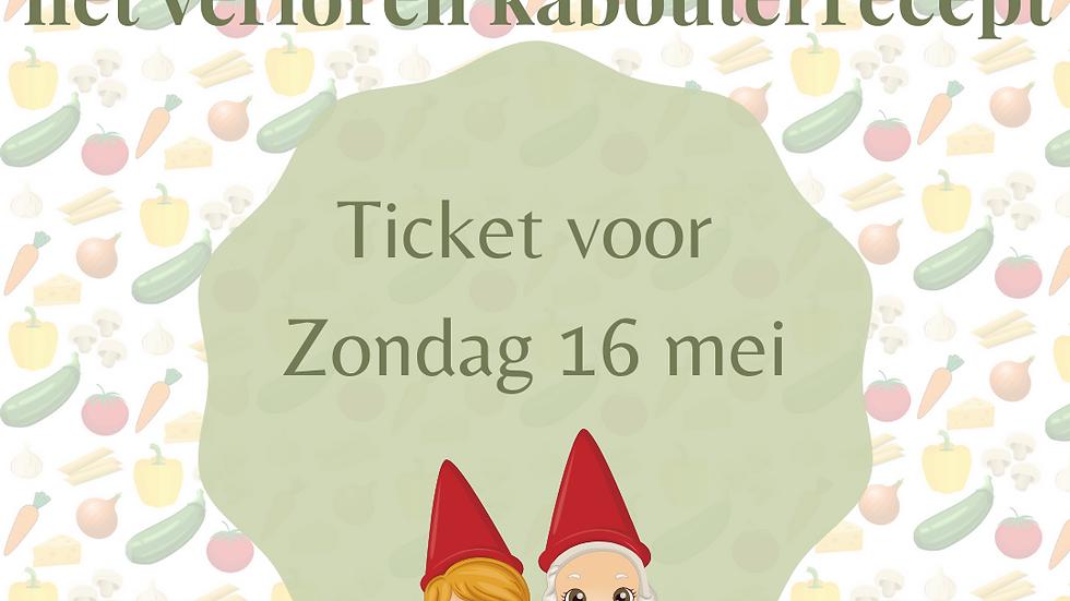 Ticket kabouterwandeling - Zo 16 mei