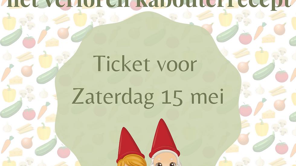 Ticket kabouterwandeling - Za 15 mei 2021