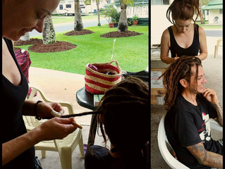 Dreadlocks in the making!