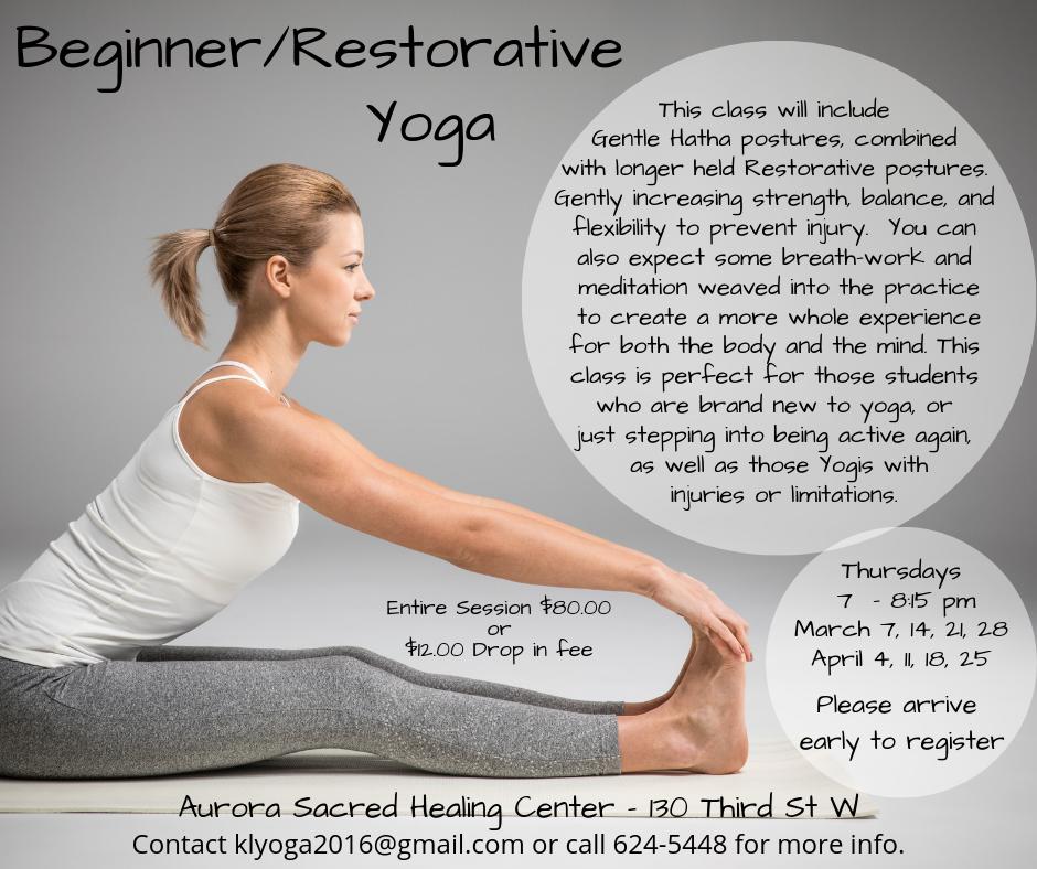 Beginner/Restorative Yoga