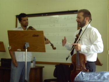 Ken teaching a master class in Brazil, A