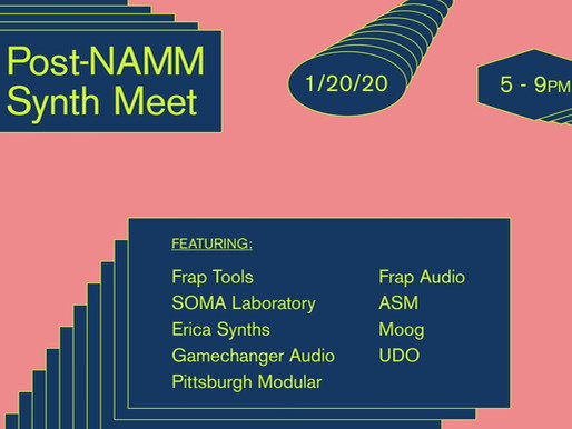 Post-NAMM Synth Meet @ Perfect Circuit on 20th Jan 2020