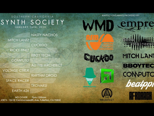 Join us at the Southern California Synth Society's NAMM party 16th January 2020