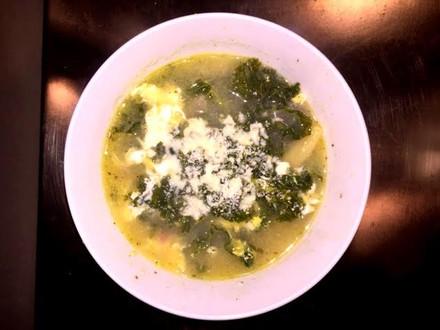 Easy Kale Potato Egg Soup