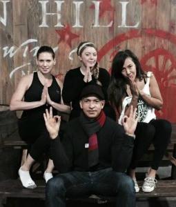 G teacher and yogis at Gun Hill.jpg