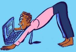 Busy Professionals Talk Yoga