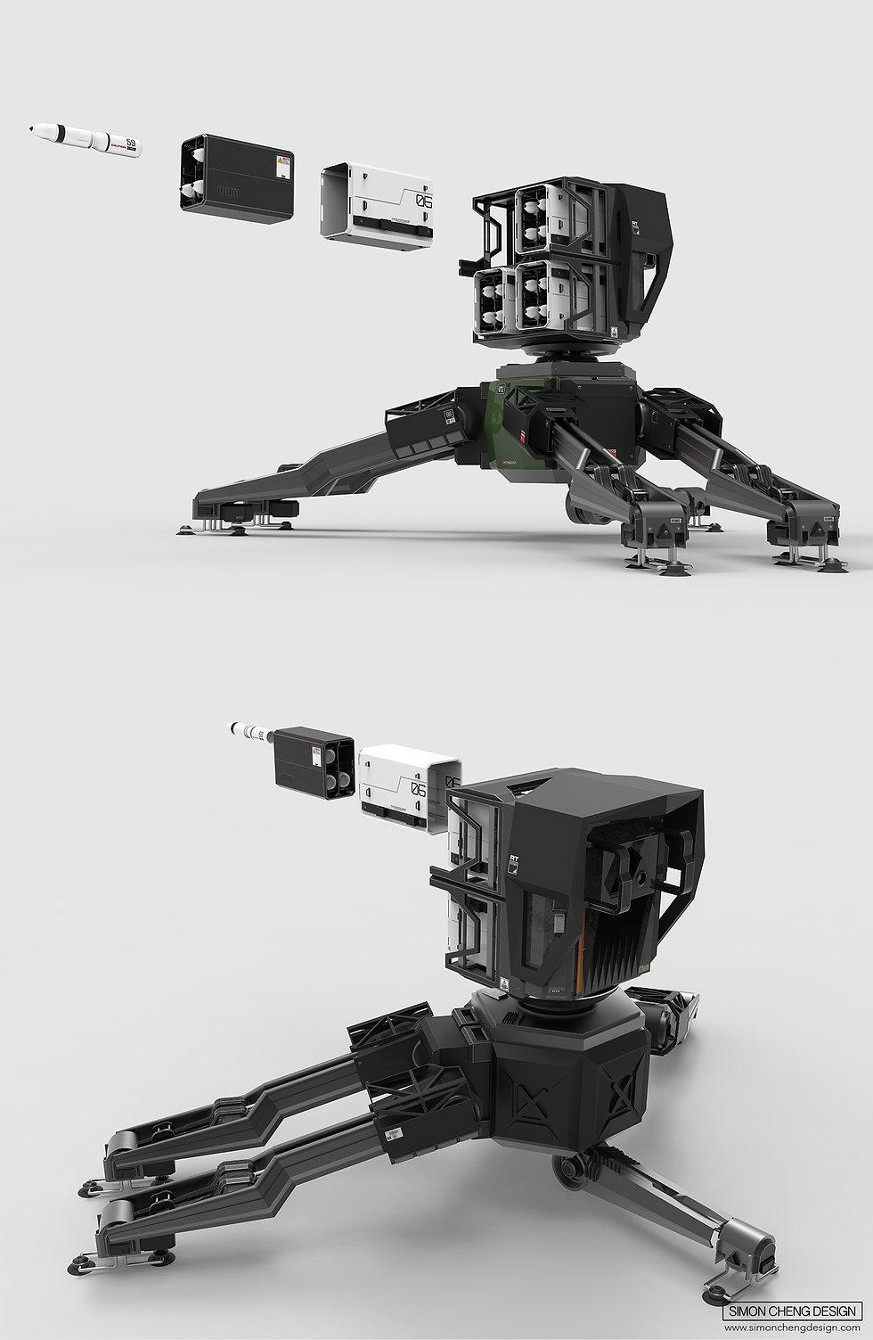 anti air sentry concept design