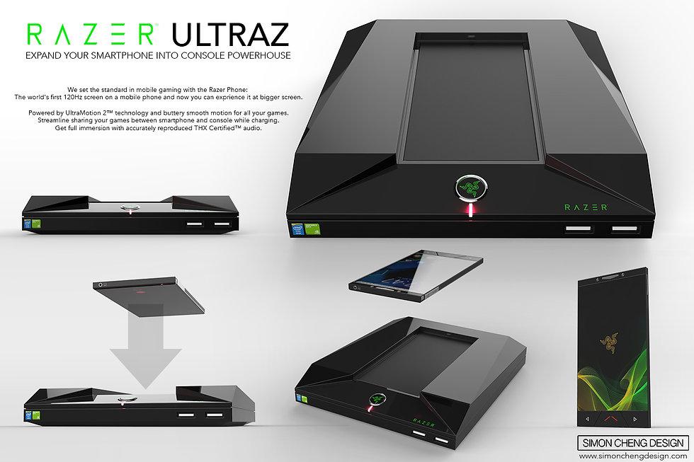 razer console phone concept