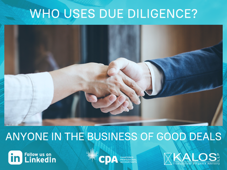 Who Uses Due Diligence .. and WHY?