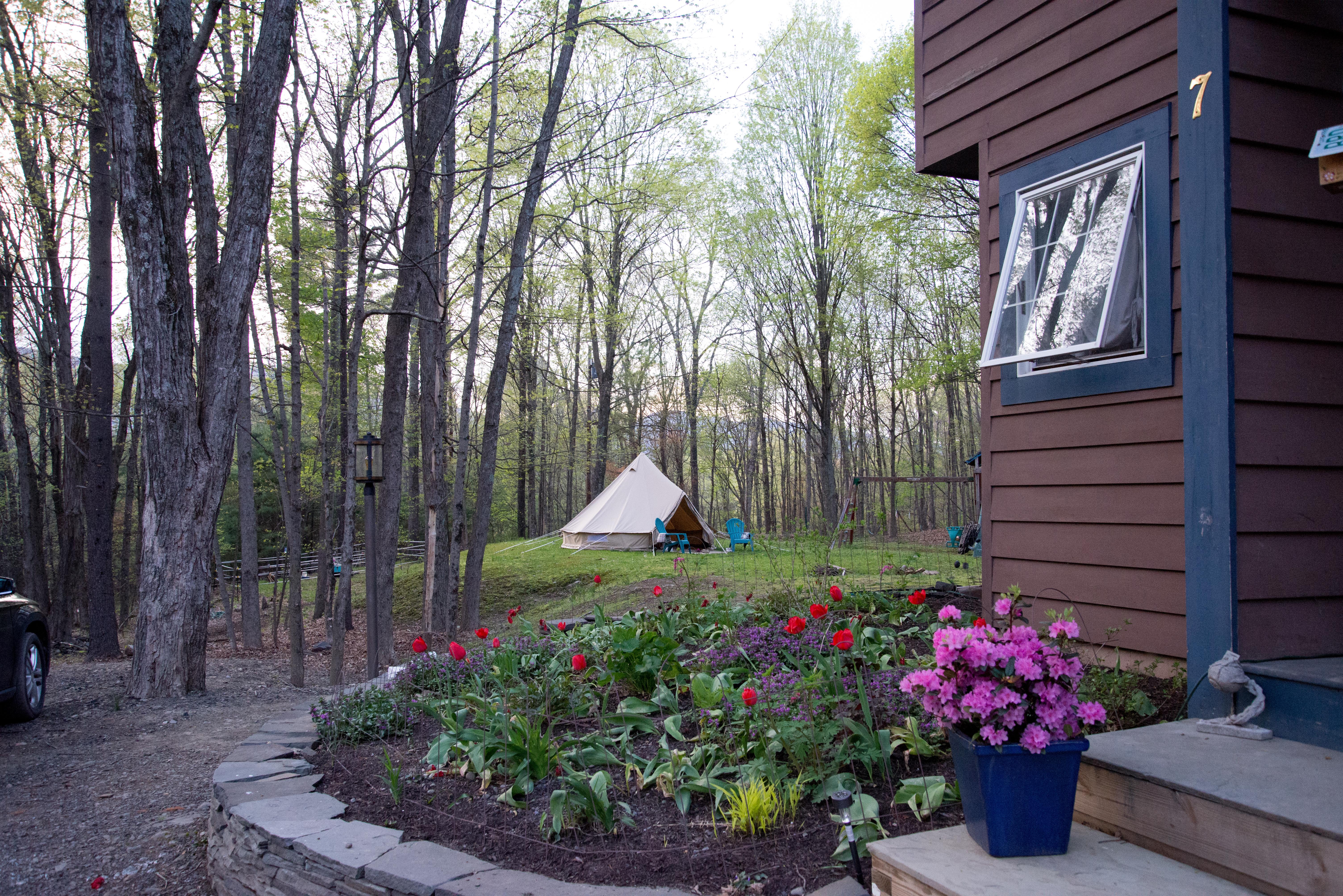GStar pic house front garden w tent