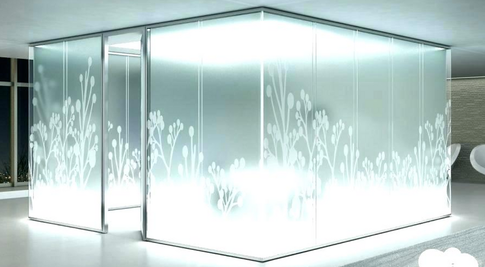 Frosted glass room