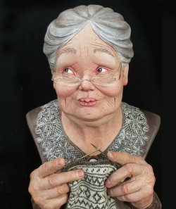 Knitting Grandma (SOLD)