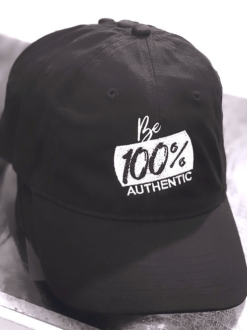Unisex Be 100% Authentic Adjustable Hat