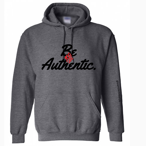 Be Authentic Adult Hoodie - Heather Grey