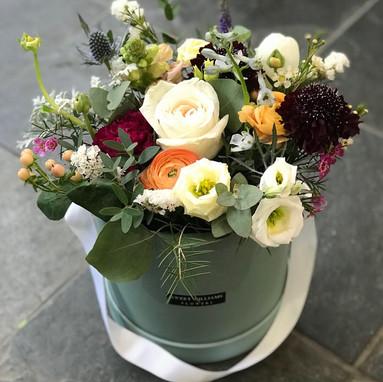 Grey Hat Box Arrangement
