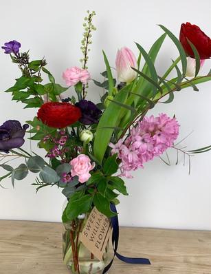 Jam Jar Flowers £20