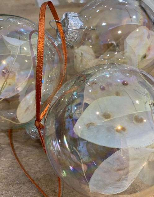 Dried Flower Glass Baubles