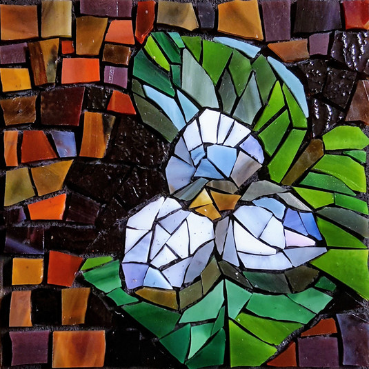 Trillium in stained glass