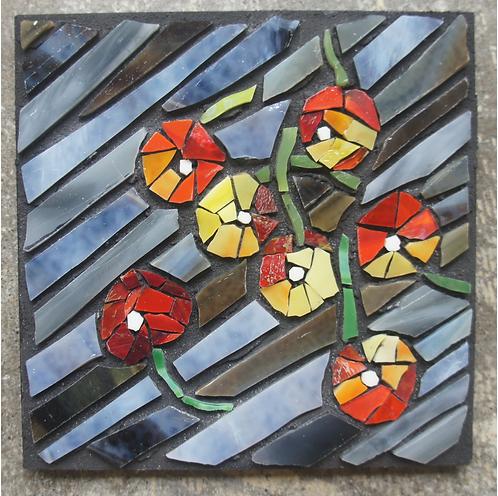 Sweet Cherries mosaic wall art