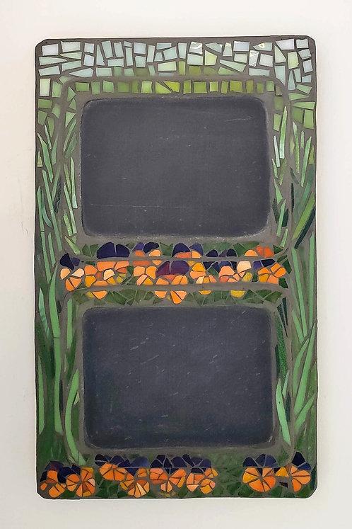 Johnny Jump-up! Mosaic chalkboard