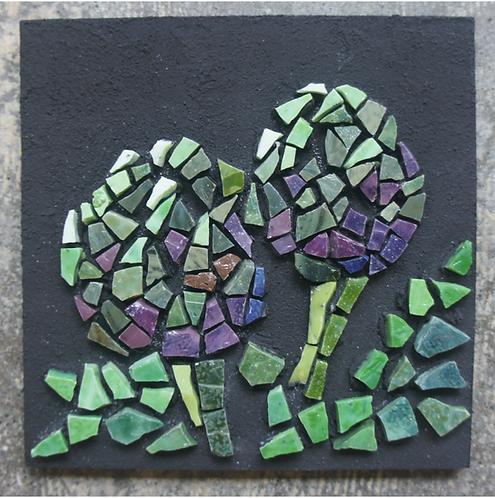 Artichokes mosaic wall art