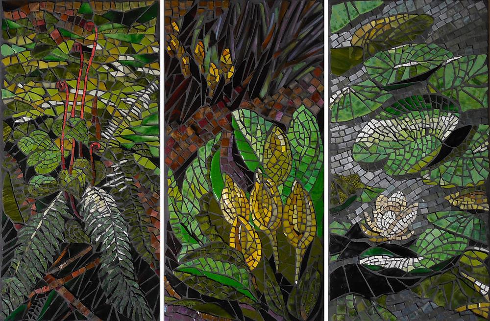 3 watershed mosaics by Joanne Daschel