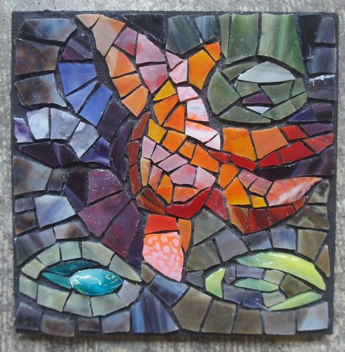 Tidepool mosaic wall art
