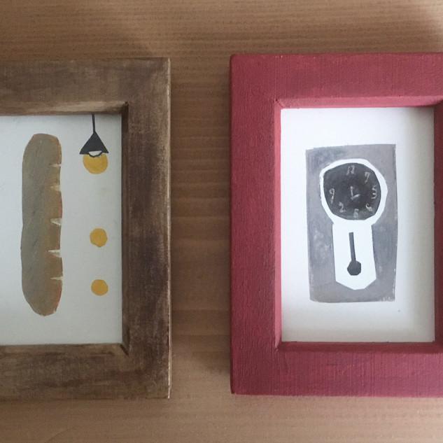 パン 壁掛け時計