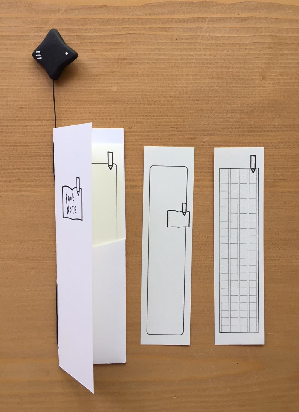 ポケットを付けてメモ用紙をセットしました。