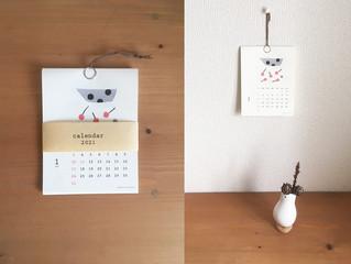2021ミニカレンダー を作りました。