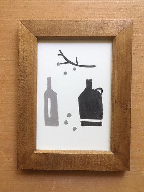 〜小さな個展 〜 作品名:木の実と瓶
