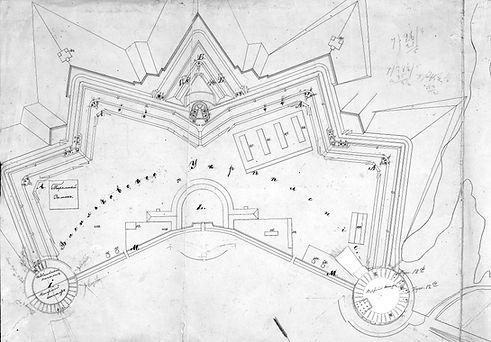 План Васильківського укріплення 1847 року (ЦДІАК)
