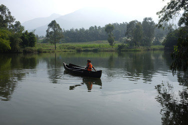 A vallam on our pond