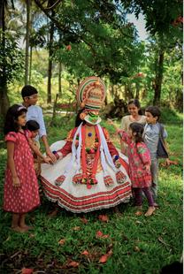 Kathakali with the kids