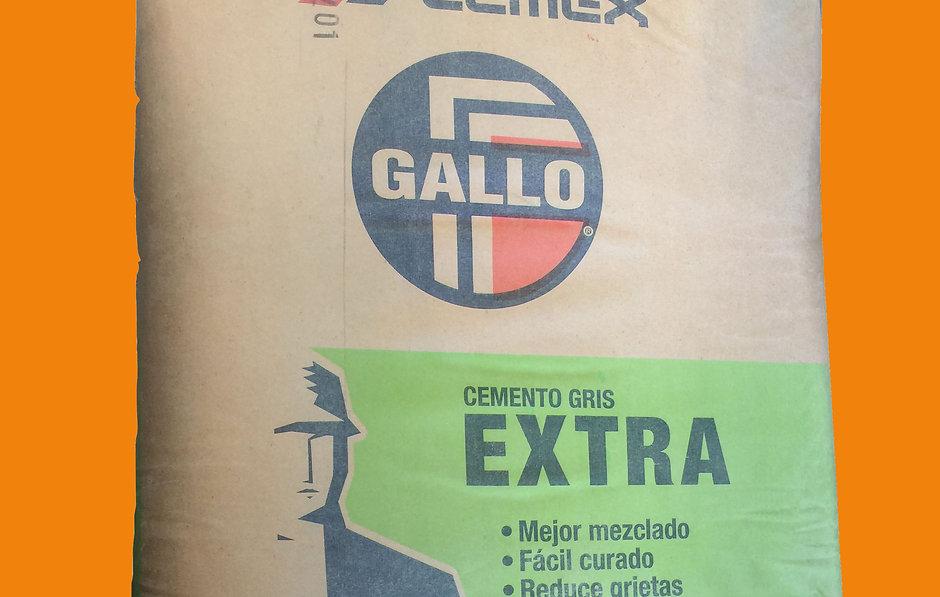 Cemento gris Gallo marca CEMEX