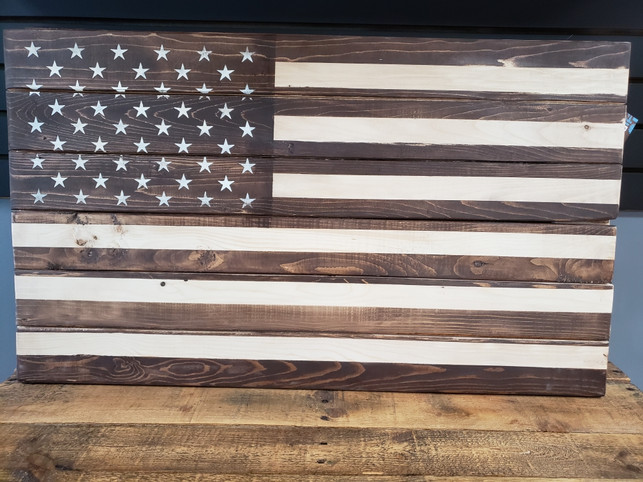 Hand Stained 36 x 20 Flags  $125