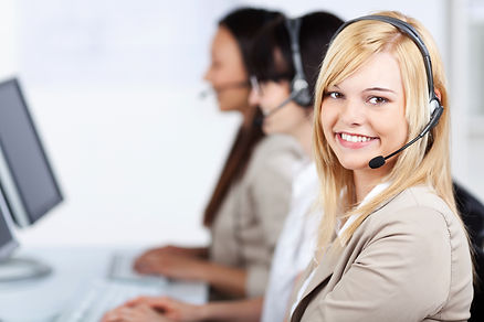 Portrait of young customer service execu