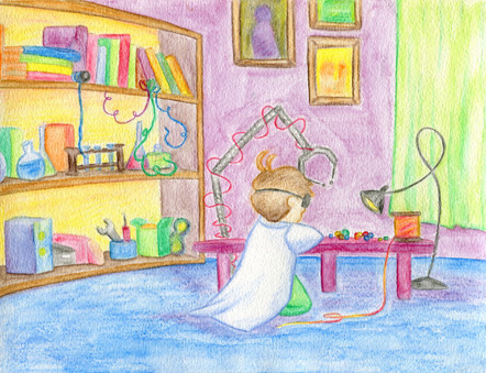 The Littlest Inventor - His Lab