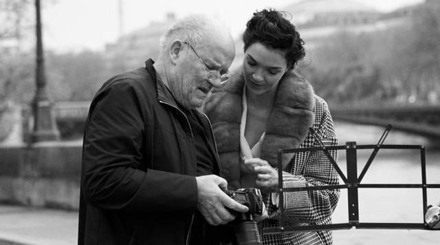 Peter Lindbergh e Maria Carla Boscono, backstage 2017/18 per Ermanno Scervino