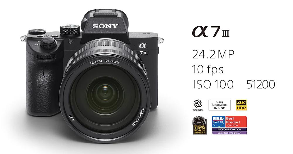 Caratteristiche della Sony A7 III  Sony A7 IV