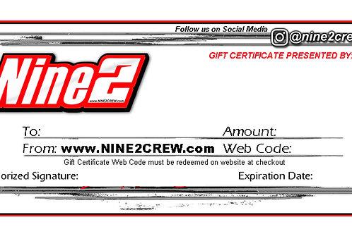 Nine2 E-GIFT Certificate