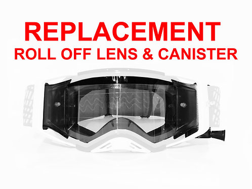 Roll-Off ~ INJECTION MOLDED RACE LENS, MUDFLAP & CANISTERS