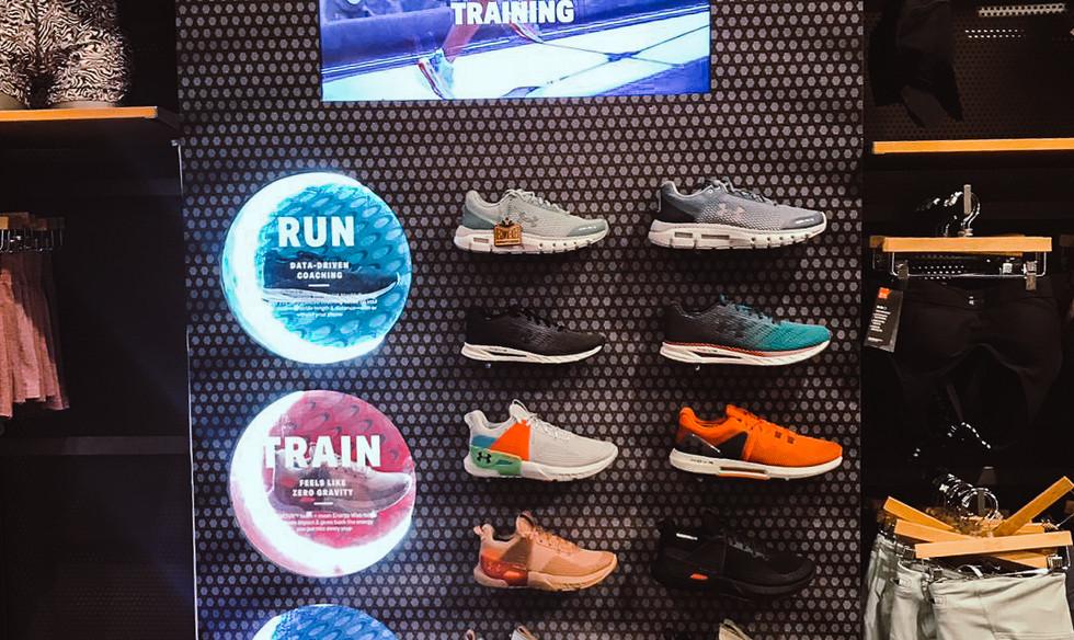 Under Armour Footwear Display