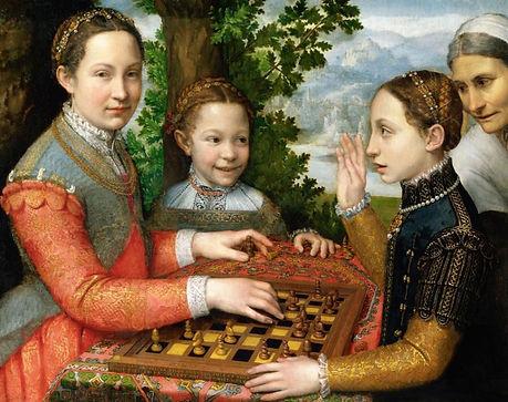 Lucia, Minerva en Europa Anguissola Schaken