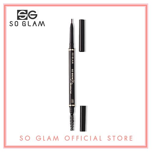 So Glam Go Brow Slim Slim Eyebrow Pencil 01 Dark Brown