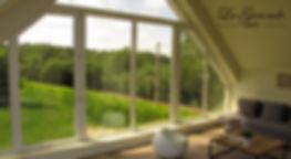 Chambre au Bois Dormant : Chambre avec vue panoramique sur le Mont desCats.