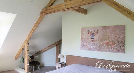 Chambre des Daims : Chambre avec vue sur l'abbaye du Mont des Cats